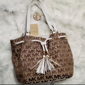 MICHAEL KORS Jet Set Gathered Drawstring EW Tote